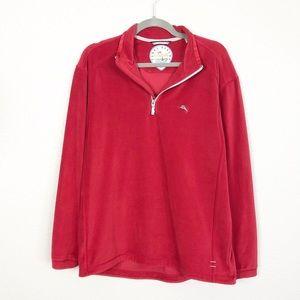 Tommy Bahama 1/4 Zip Fleece Pullover Top sz M